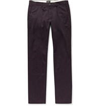 Club Monaco Connor Slim Fit Stretch Cotton Twill Chinos Dark Purple