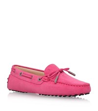 Tod's Gom Heaven Lace Driving Shoes Female Fuchsia