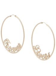 Red Valentino Forever Lovers Hoop Earrings Gold