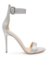 Gianvito Rossi Portofino Satin Sandals Light Blue