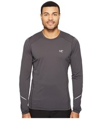 Arc'teryx Motus Crew Long Sleeve Janus Men's Clothing Brown