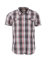 Garcia Check Print Cotton Shirt Short Sleeves Multi Coloured