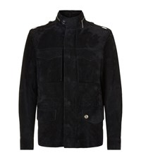 Stefano Ricci 4 Pocket Suede Jacket Male Navy