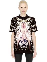 Givenchy Floral And Madonna Printed Silk Satin Top