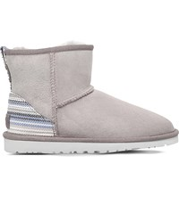 Ugg Classic Mini Serape Sheepskin Ankle Boots Grey