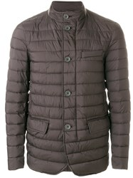 Herno Quilted Padded Jacket Brown
