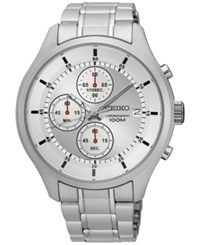 Seiko Men's Chronograph Special Value Stainless Steel Bracelet Watch 43Mm Sks535 Silver