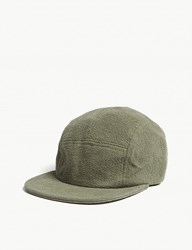 Les Basics Le Peak Towelling Fitted Cap Army