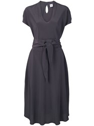 Aspesi Belted Midi Dress Grey