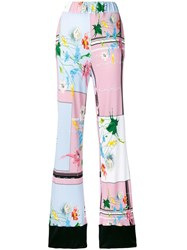 Class Roberto Cavalli Flared Trousers Pink