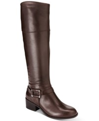Alfani Women's Biliee Riding Boots Only At Macy's Women's Shoes Dark Roast