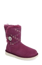 Uggr Women's Ugg Bailey Genuine Shearling Button Tehuano Boot Purple Passion Suede