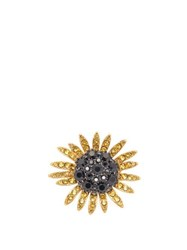 Dolce And Gabbana Crystal Embellished Sunflower Ring Gold