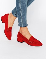 Truffle Collection Low Heel Soft Loafer Red