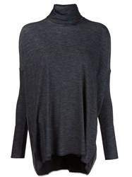 Maison Martin Margiela Mm6 Roll Neck Loose Jumper Grey