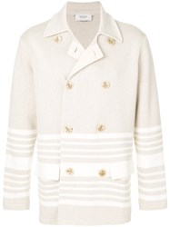 Pringle Of Scotland Shadow Stripe Peacoat Nude And Neutrals