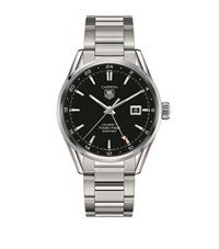 Tag Heuer Carrera 41Mm Calibre 7 Twin Time Watch Unisex Black