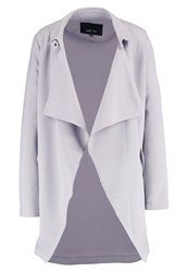 Lost Ink Waterfall Trenchcoat Light Grey