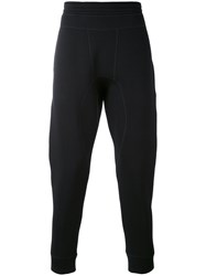 Neil Barrett Cropped Track Pants Men Cotton Spandex Elastane Lyocell Viscose M Black