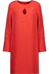 Derek Lam Cutout Crepe Dress Bright Orange