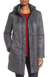 Larry Levine Women's Trapunto Trim A Line Coat