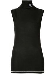 Yang Li Tank Long Line Top Black