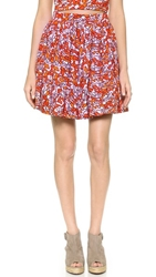Elle Sasson Buri Ruffle Skirt Orange Water Print