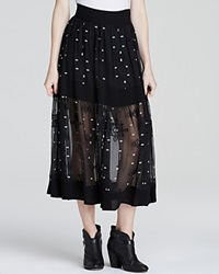 Twelfth St. By Cynthia Vincent Twelfth Street By Cynthia Vincent Skirt Tiered Silk Black
