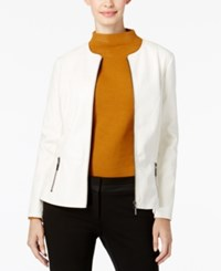 Alfani Prima Faux Leather Peplum Jacket Only At Macy's Cloud