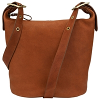 John Lewis Epley Leather Hobo Bag Tan