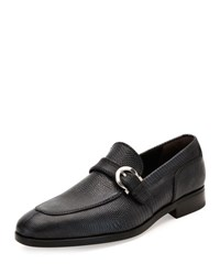 Salvatore Ferragamo Finn 2 Lizard Gancio Buckle Loafer Graphite Dark Gray