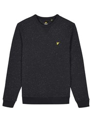Lyle And Scott Flecked Crew Neck Sweatshirt True Black