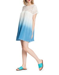 Plenty By Tracy Reese Lace Yoke Ombre Dress Riviera