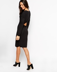 Vero Moda Long Sleeve Body Conscious Midi Dress Black