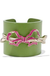 Red Valentino Embellished Leather Cuff Lime Green