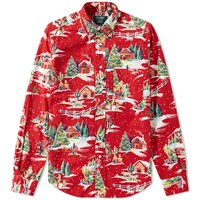 Gitman Brothers Vintage End. X Christmas Shirt White