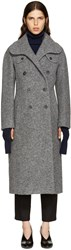 Carven Grey Wool Coat