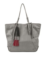 Kooba Marlowe Tassel Trim Tote French Grey