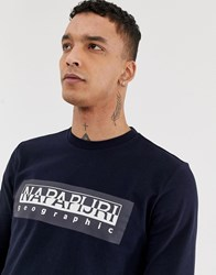 Napapijri Tribe Sele Long Sleeve Top In Navy