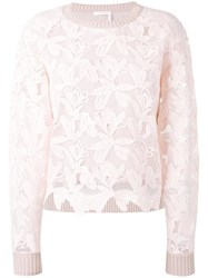 See By Chloe Layered Jumper Pink Purple