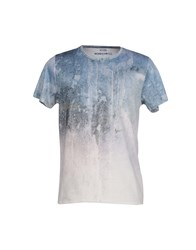 Kaos Topwear T Shirts Men Sky Blue