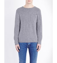 Sandro Crewneck Cashmere Jumper Mocked Grey