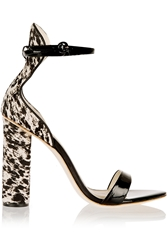 J.Crew Sophia Webster Nicole Patent Leather And Calf Hair Sandals
