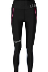 P.E Nation Saber Printed Two Tone Stretch Leggings Black