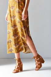 Urban Outfitters Lace Up Heel Brown