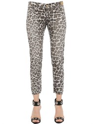 Monocrom Leopard Printed Cotton Poplin Pants