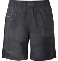 Salomon Agile Mesh Panelled Printed Shell Shorts Navy