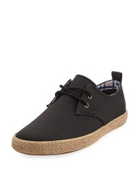 Ben Sherman New Jenson Lace Up Canvas Sneaker Black
