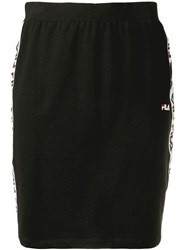 Fila Logo Trim Skirt Black