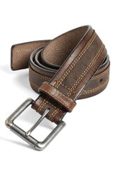 Johnston And Murphy Men's Big Tall Leather Belt Brown